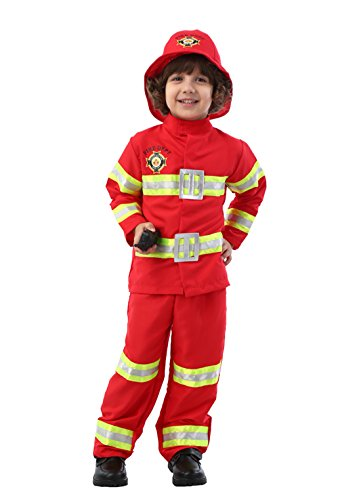 ROMASA Cosplay Fireman Chief Role Play Costume Set(7-8/130cm)