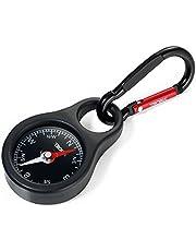 Troika Kompas wegwijzer - COS10/BK - Sleutelhouder met kompas en karabijnhaak - zwart - PVC/acryl/silicone - aluminium - het origineel