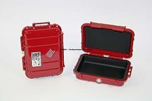 Peli 1010 Micro - Funda sumergible, color rojo y negro