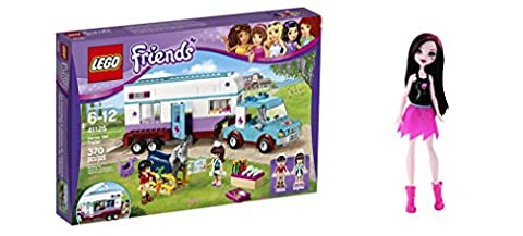 LEGO Friends Horse Vet Trailer 370 Pcs & free Gifts Ghoul Spirit Draculaura Doll (Colors may vary) Toys