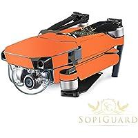 SopiGuard Matte Orange Metallic Precision Edge-to-Edge Coverage Vinyl Skin Controller Battery Wrap for DJI Mavic Pro