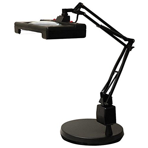 Electrix 7460 30'' Reach Wide View Illuminated Magnifier with Weighted Base