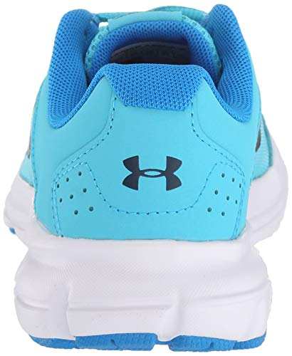 Under Armour Girls' Grade School Rave 2 Sneaker, Alpine (301)/Blue Circuit, 4 by Under Armour (Image #2)