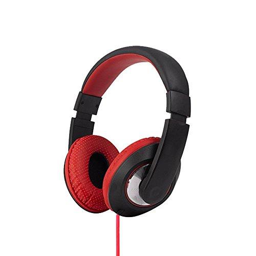 XHKCYOEJ Headset Stereo Headset/Headphones/Headphones/Wired/Notebook/Music/Calls,White Red: Amazon.co.uk: Electronics