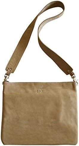 ALICIA DAKTERIS   Alodie Italian Leather Crossbody Bag Brown