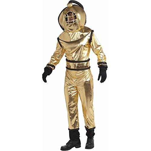 [Deep Sea Diver Adult Costume - Standard] (Adult Deep Sea Diver Costumes)