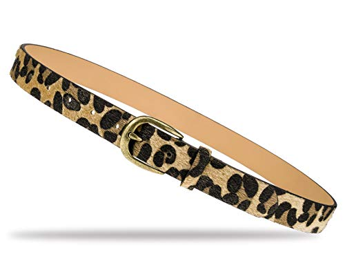 (QISHI YUHUA Womens Leopard Print Belts Cheetah Animal Print Belt for Jeans,2.8-95)