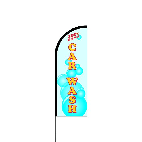 Flex Banner, Carbon Composite Pole Kit , Imprinted Flag (Hand Car Wash) (11' Feet) - Vertical Carbon Fin