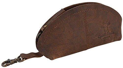 - Genuine Leather Small Key Holder Pouch Unisex Brown Attachment 2A24-26-3