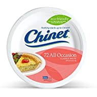 Chinet Classic White, Round All Occasion Fiber Plates, 8.75 Inch, 72 Count