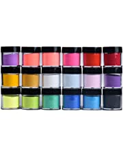 DIY Nail Art Glitter Powder 18 Colors Acrylic Nail Art Tips UV Gel Powder Dust Design Decoration 3D Manicure Make Up Art Manicure