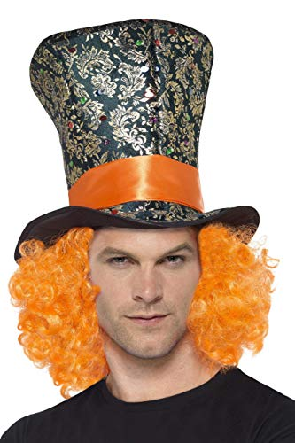Smiffy's Men's Mad Hatter Top Hat, One Size,