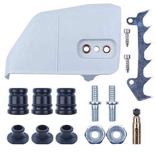 Haishine Clutch Cover Annular Buffer Felling Dog Bar Nuts Studs Kit for STIHL MS180 MS170 018 017 Petrol Chain Saws 1123 640 1705