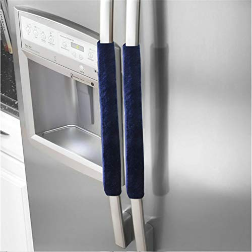 Samoii Shipping from USA, Refrigerator Door Handle Covers Protective Electrical Gloves Fridge Microwave Dishwasher Door Cloth Protector-Fingerprints Dust Covers (1Pair - Clothes Cover Washer Door