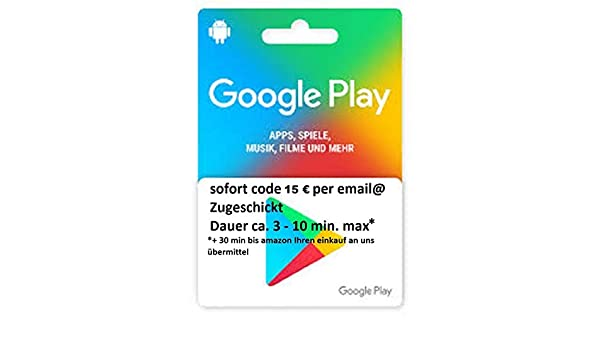 google play guthaben 15€: Amazon.es: Oficina y papelería