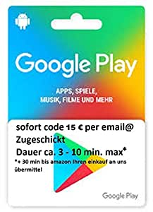 Amazon.com: Google Play Gift Card $15: Office Products