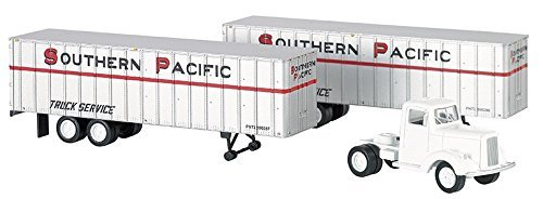 Bachmann Industries Southern Pacific 1950's/60's Truck Cab Want Two Piggy Back Trailers (HO Scale Train)