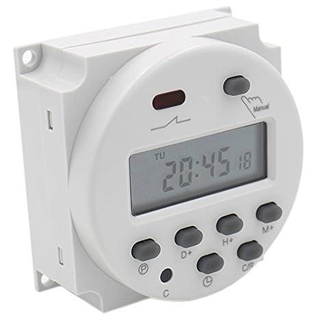 Schema Elettrico Per Temporizzatore : Heschen timer digitale programmabile con schermo lcd dc 12 v