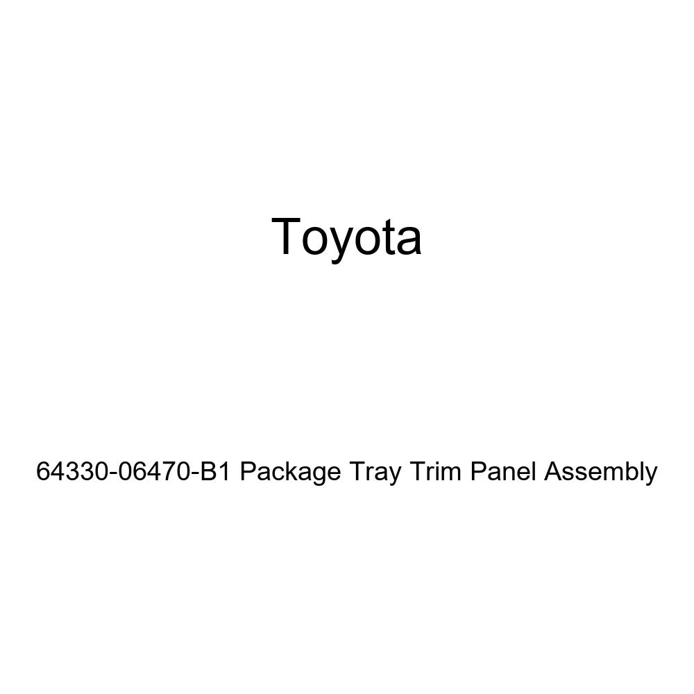 TOYOTA Genuine 64330-06470-B1 Package Tray Trim Panel Assembly