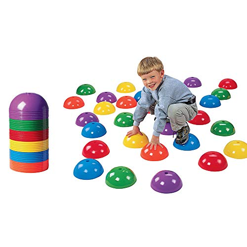 (Constructive Playthings Stepping Domes, Indoor and Outdoor Exercise Cones for Kids, 36 Piece Set)