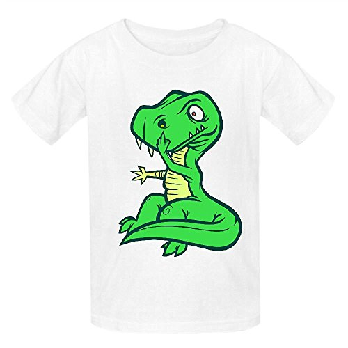 Snowl T Rex Booger Girls Crew Neck Personalized Shirts White