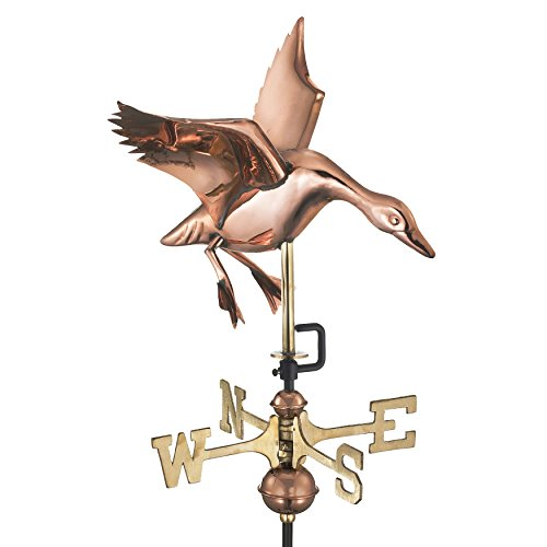 Good Directions Landing Duck Cottage Weathervane with Roof Mount, Pure (Landing Duck Cottage)