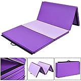 Giantex 4'x8'x2 Gymnastics Mat Thick Folding Panel Gym Fitness Exercise Mat Purple/Pink