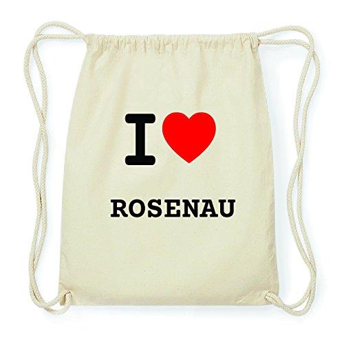 JOllify ROSENAU Hipster Turnbeutel Tasche Rucksack aus Baumwolle - Farbe: natur Design: I love- Ich liebe Hp2CxHpg