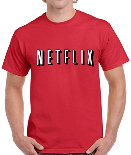 [Vizor Netflix Tshirt For Men Ugly Christmas Shirt Funny Family Netflix Christmas T-Shirt For Men Funny Xmas Gift For Him Red L] (Couples Costume Breaking Bad)