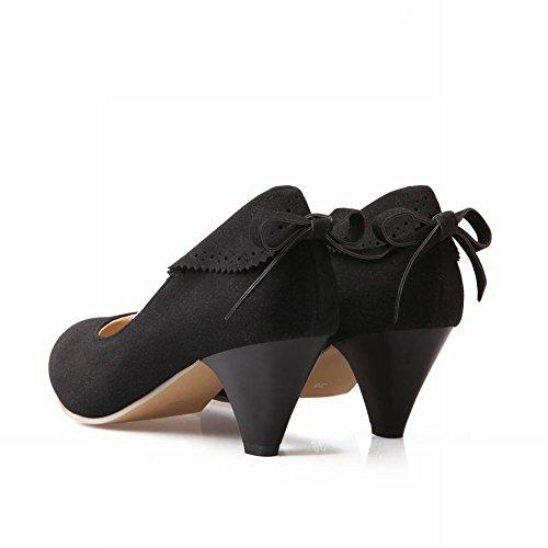 Charm Foot Fashion Womens Mid Heel Pumps Dress Shoes Black xwoZv