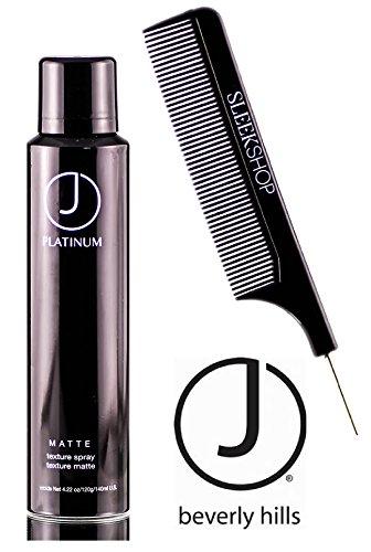 (J Beverly Hills Platinum Matte Texture Spray (with Sleek Steel Pin Tail Comb) (4.2 oz))