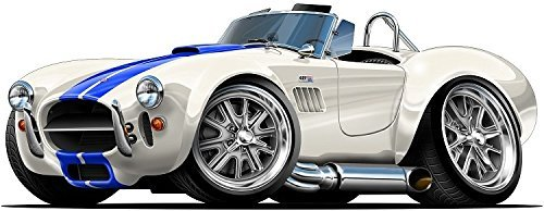 Amazon Com 1964 66 Shelby Cobra 427 Cartoon Car Wall Graphic 24 X