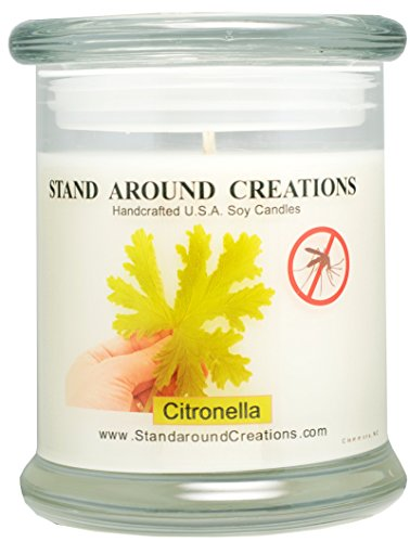 Premium 100% All Natural Soy Wax Candle - 12-oz. Status - Citronella: A natural insect repellent, An effective way to keep mosquitoes away. Infused with the oil of the citronella - Status Usps Order
