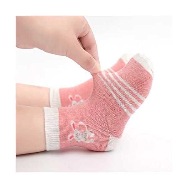 Cotton Coming Rosa Cotone Bambina Neonata Calzini ,9 Paia Carino Bambino Calzamaglie Neonata, Calzini per bambina 5