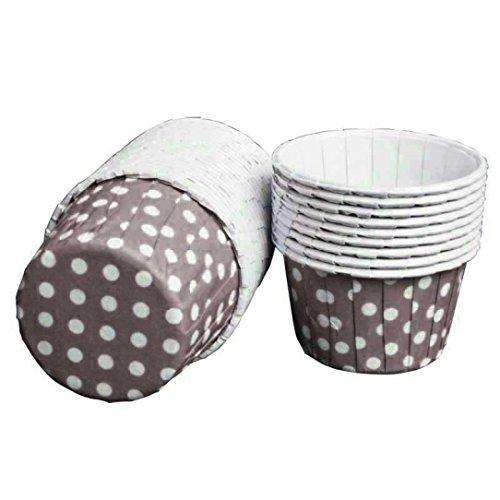 Cupcake Förmchen DDLBiz® 100pcs Punkt hohe temperaturbeständige Backen Kuchen Tassen (Kaffee)