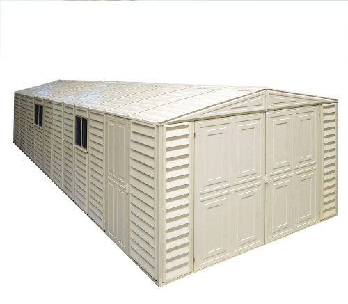 Duramax 01314 Vinyl Garage Shed with Foundation and Window, 10 by 23.5-Inch (Duramax Shed Vinyl Usa)