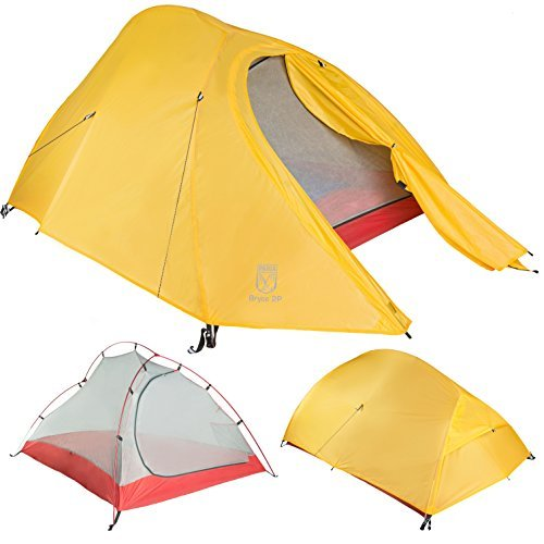 Paria Outdoor Products Bryce Ultralight Tent and Footprint - Perfect for Backpacking, Kayaking, Camping and Bikepacking (1P) ()