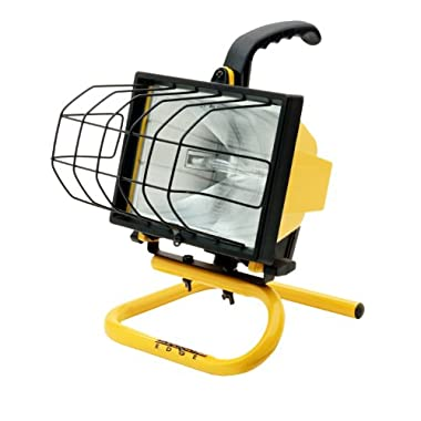 Designers Edge L20 Portable Handheld Work Light, Yellow, 500-Watt