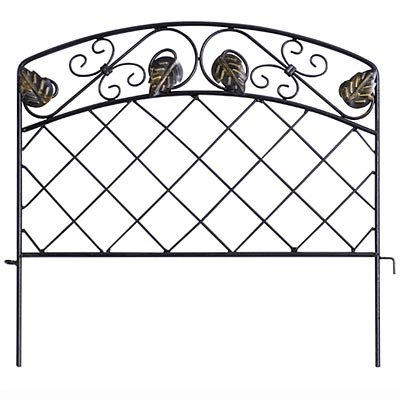 Panacea Scroll & Ivy Garden Edge, Black, 16