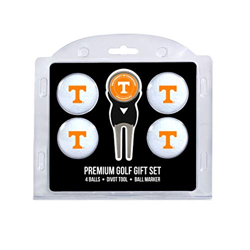 (Team Golf NCAA Tennessee Volunteers Regulation Size Golf Balls (4 Count) & Divot Tool with Removable Double-Sided Magnetic Marker )