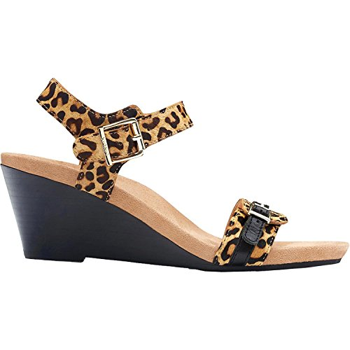 Vionic Noble Laurie - Womens Wedge Sandal Tan Leopard - 1...
