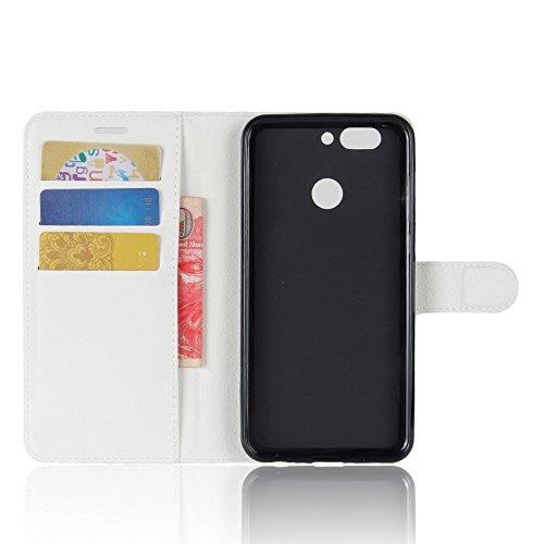 Manyip Funda Huawei nova 2 ,Caja del teléfono del cuero,Protector de Pantalla de Slim Case Estilo Billetera con Ranuras para Tarjetas, Soporte Plegable, Cierre Magnético(JFC6-5) A