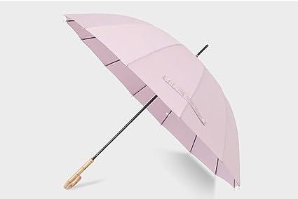 Mango de madera de paraguas largo Paraguas de estilo chino Partysu estudiantes simples (Color :