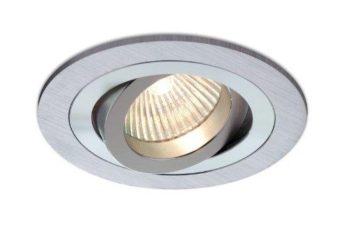 Empotrable Aluminio cepillado, circular y basculante (Halógeno o LED), color aluminio: Amazon.es: Hogar