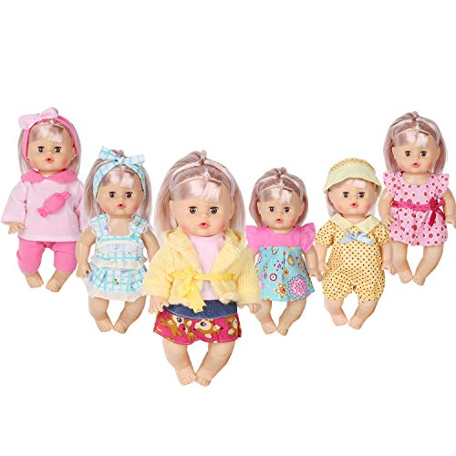 - Huang Cheng Toys Set of 6 Doll Clothes for 12 Inch Doll Dress Clothes Outfits Costumes Gown Doll Accessories Clothing Handmade