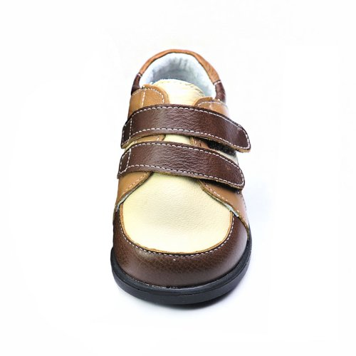 HLT Toddler/Little Kid Boy Puppy Double Strap Brown Uniform Shoe [US 10 / EU 26]