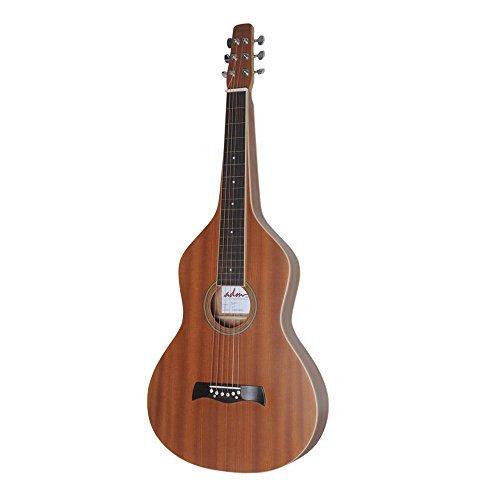 ADM Acoustic Weissenborn Style Lap Steel Guitar, Natural ...