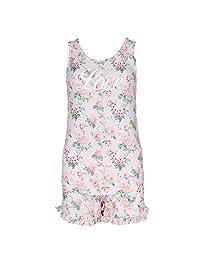 Sag Harbor Women's Plus Size Floral Tank and Short Pajamas