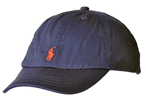 - Polo Ralph Lauren Classic Navy Red Pony Youth Adjustable Slouch Hat Cap (4-7)