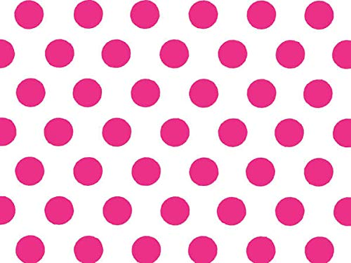 Hot Pink Polka Dot (Hot Pink and White Polka Dot Tissue Paper - 20 Inch x 30 Inch - 48 XL Sheets Premium Quality Tissue Paper ByA1 Bakery Supplies Made in)